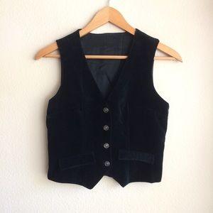 🖤 Black velvet vest waistcoat